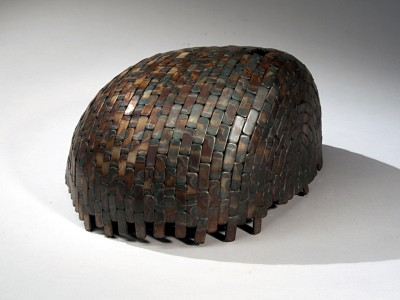 Paula Castillo Sculpture: steel by product, 12 x 8 x 14 inches, 2009. New Mexico