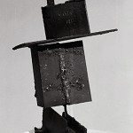 "Paula Castillo Sculpture: ""house for a small planet,"" steel, 11 x 9 x 8 inches, 1999. New Mexico"