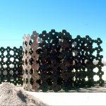 arroyo flowers. plate steel, 60 ft x 5 ft x 5 ft, 2005