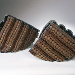 "Paula Castillo Sculpture: ""barcos chiquitos,"" steel, 17 x 18 x 8 inches each, 2001. New Mexico"