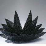 "Paula Castillo Sculpture: ""lotus,"" lock washers, steel, 22 x 30 x 33 inches, 2001. New Mexico"