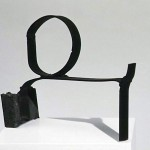 "Paula Castillo Sculpture: ""mare orientale,"" steel, 8 x 5 x 3 inches, 1999. New Mexico"