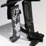 "Paula Castillo Sculpture: ""evening,"" steel, 40 x 32 x 14 inches, 1999. New Mexico"