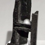 "Paula Castillo Sculpture: ""chinese moon,"" steel, 7 x 3 x 3 inches, 1999. New Mexico"