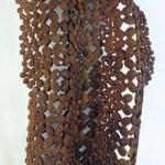 Paul Castillo: steel, 36 x 20 x 8 inches, 2001