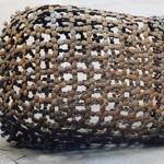"PAULA CASTILLO SCULPTURE: ""double-fresno,"" steel, 2001. New Mexico"
