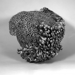 "PAULA CASTILLO SCULPTURE: ""tethered,"" individually welded lock washers and and hand twisted wire , 18"" x 15"" x 11"", 2012"
