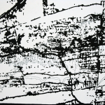 "PAULA CASTILLO: ""all kinds of tracks"", conte crayon and sumi ink, 30"" x 22, 2012"