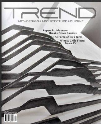 """TREND magazine cover. aluminum, 24' x 10' x 10"""", 2015."""